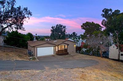 La Mesa Single Family Home For Sale: 7862 Suncrest Drive