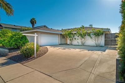 San Diego CA Single Family Home For Sale: $990,000
