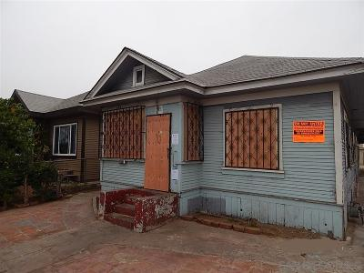 San Diego County Single Family Home For Sale: 3115 Webster Ave