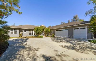 San Diego Single Family Home For Sale: 18380 Bernardo Trails Dr