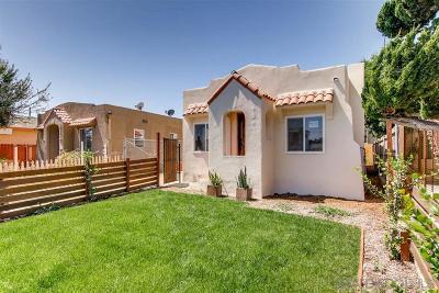 San Diego Multi Family 2-4 For Sale: 4216 Estrella Ave.