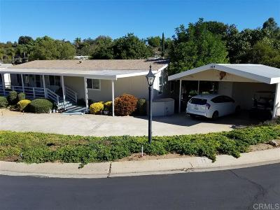 San Diego County Mobile/Manufactured For Sale: 18218 Paradise Mountain Rd #Space 16