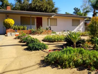 San Diego County Single Family Home For Sale: 818 McDonald Rd.