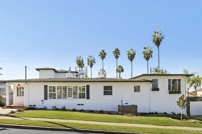 San Diego Single Family Home For Sale: 4603 Alhambra St