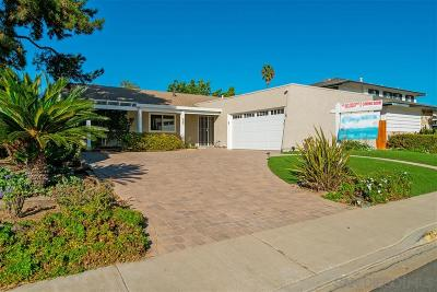 San Diego Single Family Home For Sale: 3154 Mercer Lane