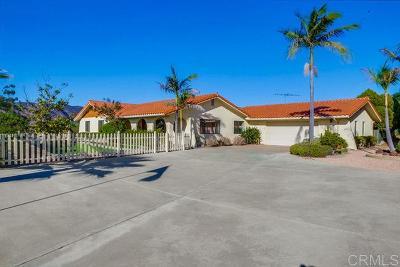 Fallbrook Single Family Home For Sale: 1717 Macadamia Drive