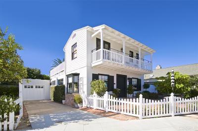 La Jolla Single Family Home For Sale: 1320 Park Row
