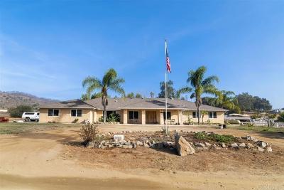 Escondido CA Single Family Home For Sale: $899,000