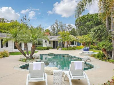 Rancho Santa Fe Single Family Home For Sale: 15820 Via Del Alba
