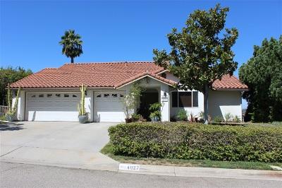 Escondido CA Single Family Home For Sale: $759,000