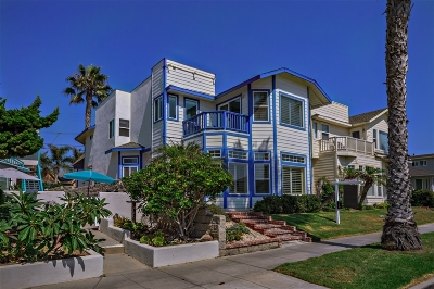 Oceanside Single Family Home For Sale: 1020 S Pacific St