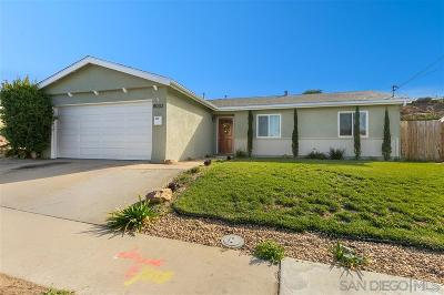 San Diego Single Family Home For Sale: 8033 Gribble St