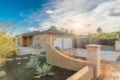 Single Family Home For Sale: 2988 Washington St