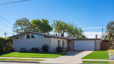 San Diego Single Family Home For Sale: 3072 Masters Pl