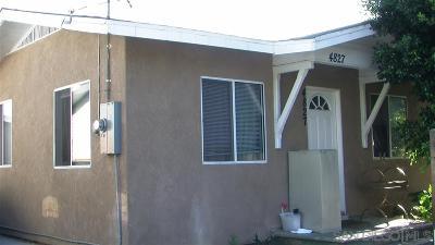 San Diego Single Family Home For Sale: 4827 Auburn Dr