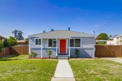 San Diego Single Family Home For Sale: 2754 Preece Street