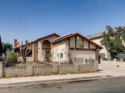 San Diego Single Family Home For Sale: 2384 Biola Ave