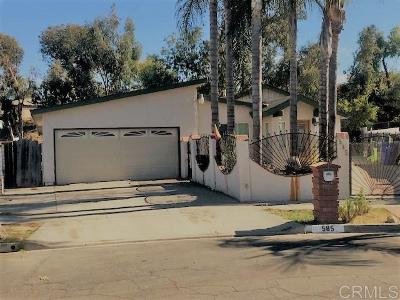Oceanside Single Family Home For Sale: 585 Roja St