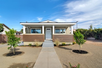 San Diego Single Family Home For Sale: 3820 Florence St