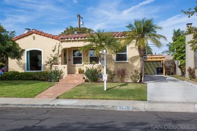 San Diego Single Family Home For Sale: 3438 Olive Street
