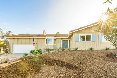 Escondido CA Single Family Home For Sale: $589,900