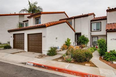 Carlsbad Townhouse For Sale: 6712 Clover Ct