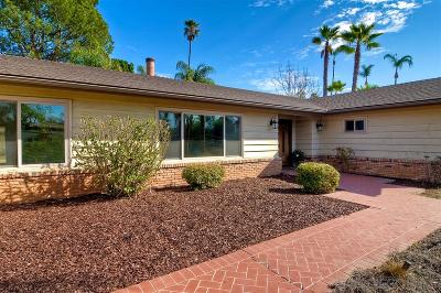 Escondido Single Family Home For Sale: 2258 Sunset Drive