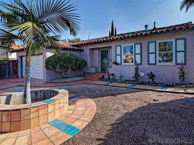 San Diego Single Family Home Pending: 5459 Collier Avenue