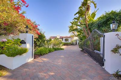 Del Mar Single Family Home For Sale: 4634 Rancho Reposo