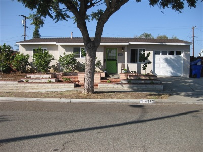 Clairemont, Clairemont East, Clairemont Mesa, Clairemont Mesa East Single Family Home For Sale: 4372 Tecumseh Way