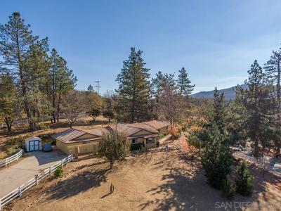 Julian Single Family Home For Sale: 2861 Three Peaks Ln