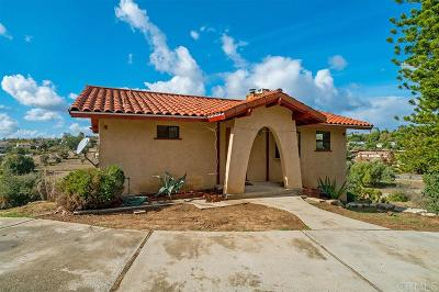 Fallbrook Single Family Home For Sale: 1141 Morro Rd