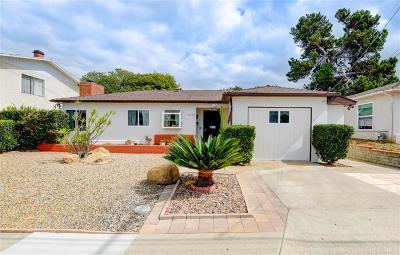 San Diego Single Family Home Pending: 5237 Tipton