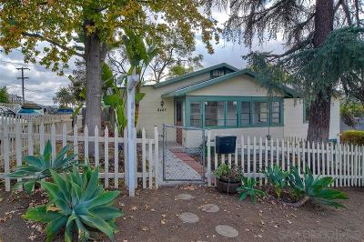 La Mesa Single Family Home For Sale: 8445 Finley Ave