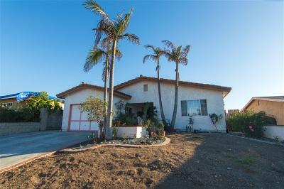 San Diego Single Family Home For Sale: 3721 Agosto St