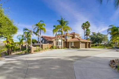 Poway Single Family Home For Sale: 13834 Lake Poway Rd