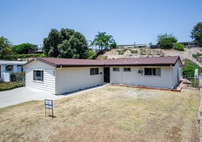 La Mesa Single Family Home For Sale: 7980 Pat St