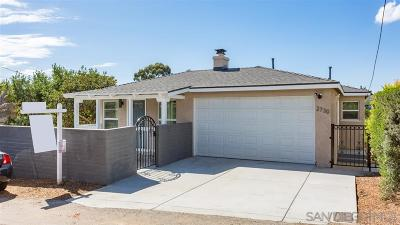 San Diego Single Family Home Sold: 2730 Nutmeg Place