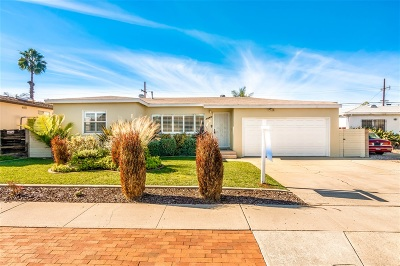 Clairemont Single Family Home For Sale: 3460 Argyle St