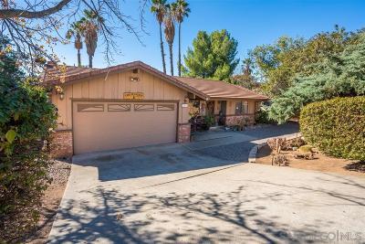 Riverside County, San Diego County Single Family Home For Sale: 23755 Gymkhana Rd