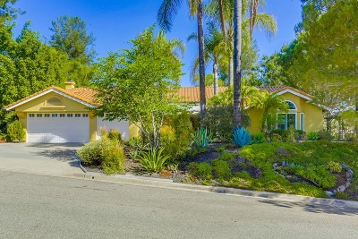 Escondido Single Family Home For Sale: 1832 Coltridge