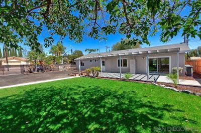Santee Single Family Home Back On Market: 9460 Carlton Hills Blvd