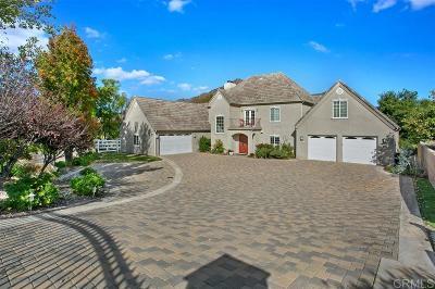 Fallbrook Single Family Home For Sale: 2652 Vista Del Rio