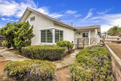 San Diego Single Family Home For Sale: 221 S 36th St.