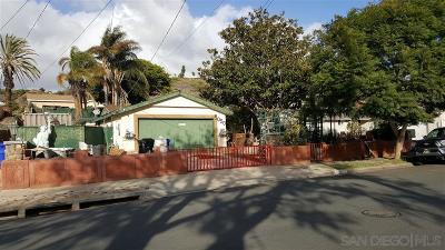 San Diego Single Family Home For Sale: 5050 Gardena Ave