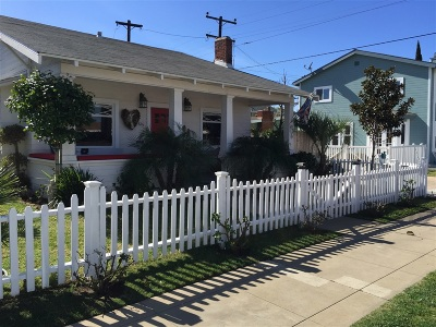 Coronado Single Family Home For Sale: 616t 5th St