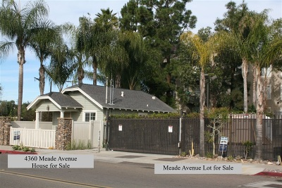 San Diego Residential Lots & Land For Sale: Meade Ave #1