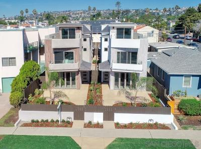 Pacific Beach, Mission Beach Single Family Home For Sale: 1064 Law St