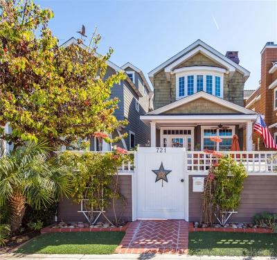 Coronado Single Family Home For Sale: 721 G Avenue