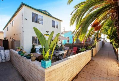 Pacific Beach, Mission Beach Multi Family 2-4 For Sale: 725 Kingston Ct